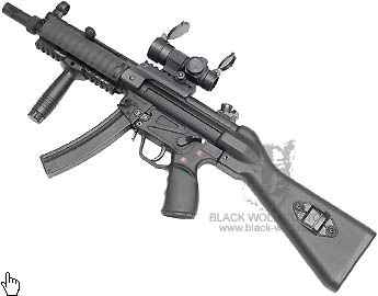 ТМ, СА MP5 Solid Stock with Wire, G&G MP5 Metal Receiver, G&P RAS for MP5A4/A5